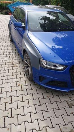 Audi RS4 B8 widened fenders 2cm per side