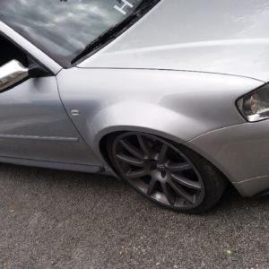 Audi S3 8L widened fenders 3cm per side