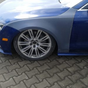 Audi A7 widened fenders 3 cm per side