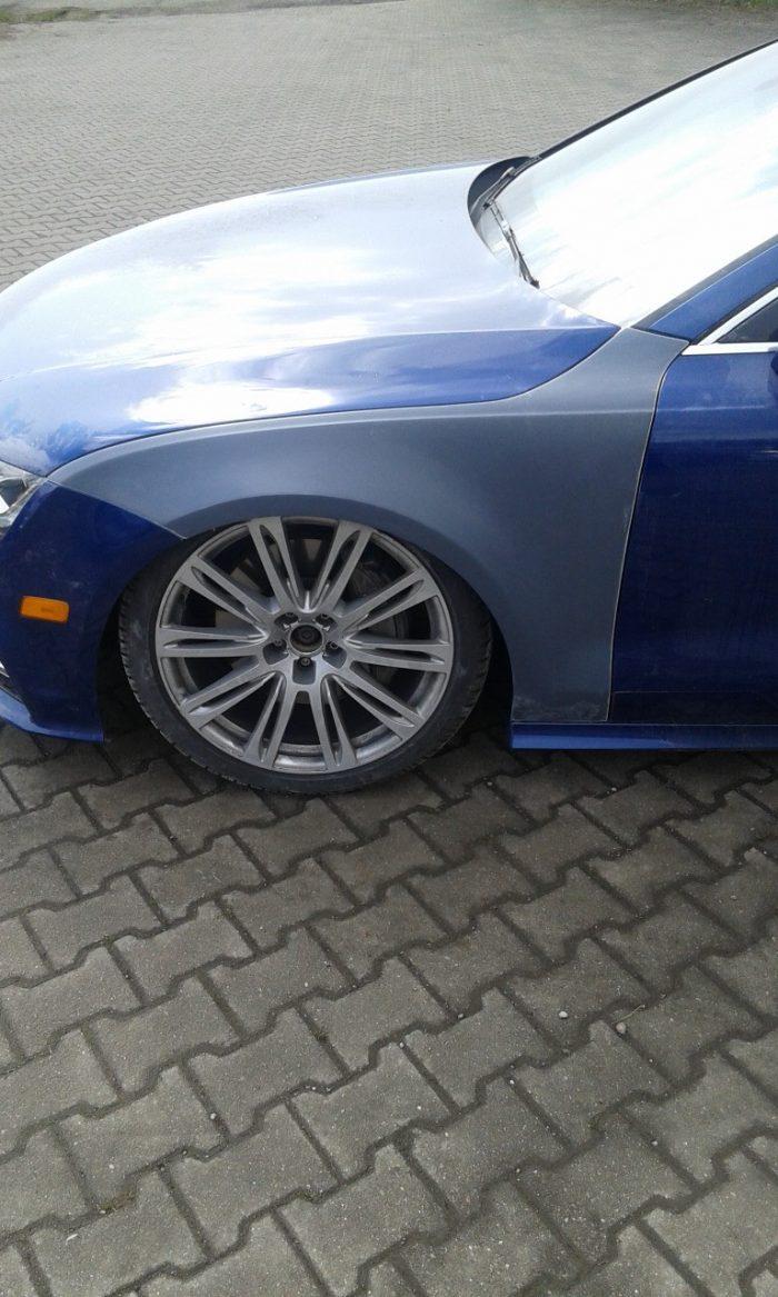 Audi A7 widened fenders 3 cm per side
