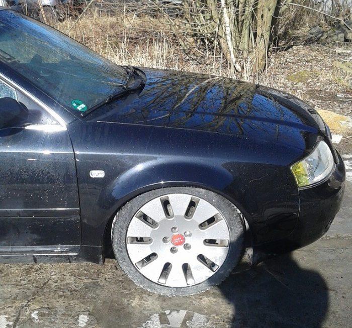 Audi A6 4B C5 widened fenders 3cm per side