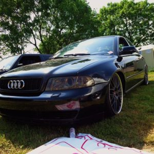 Audi A4B5 FL widened fenders 3 cm per side