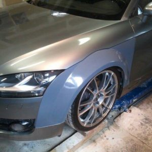 Audi TT 8J widened fenders 3cm per side