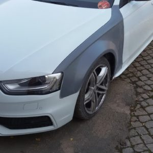 Audi A4 B8 8K facelift widened fender 3 cm per side fiberglass