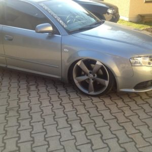Audi A4B7 widened fender 3cm