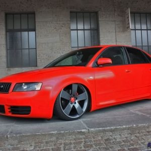 Audi A4B6 fiberglass fender 3.5 cm widened per side
