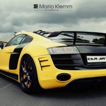 Audi R8 rear spoiler / rear wing visible carbon