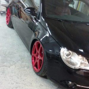 VW EOS widened fenders 3cm per side