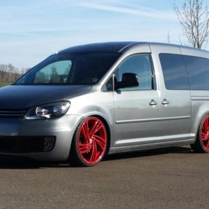 VW Caddy widened fender 2.5 cm