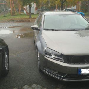 VW Passat B7 widened fenders 3 cm per side